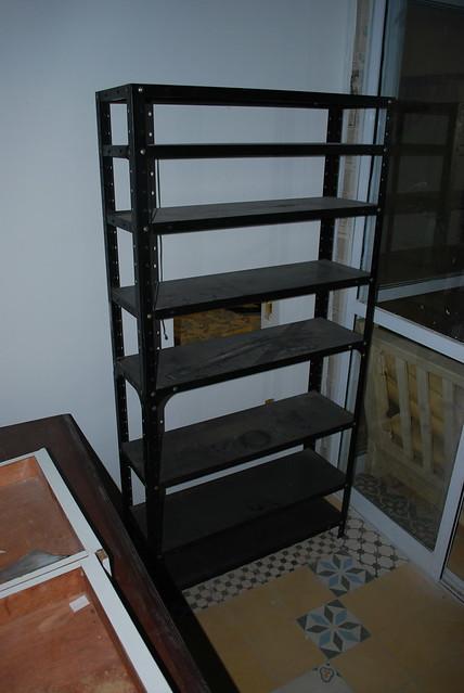 Estantes de metal pretas 02 flickr photo sharing - Estantes de metal ...