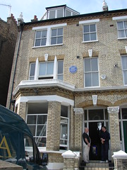Photo of Natsume Soseki blue plaque