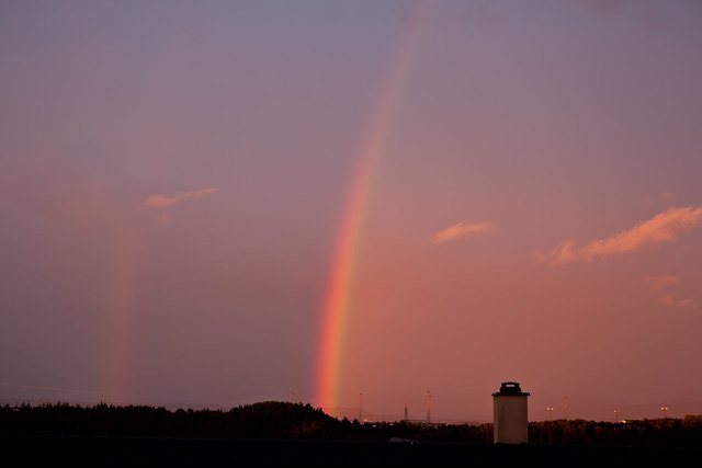 One and a half....rainbow...taken from my balcony...