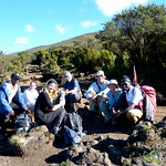 Water Break Near Horombo Huts - Mt. Kilimanjaro, Tanzania
