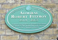 Photo of Robert Fitzroy green plaque