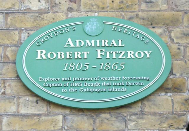 Photo of Robert Fitzroy green plaque