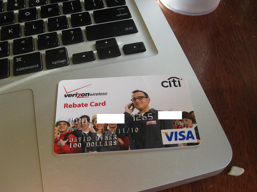 Verizon rebate debit card