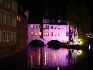 Image of Heilig-Geist-Spital. 2003 city november autumn fall geotagged photo highresolution flickr downtown foto nightshot image nuremberg picture historic hires cc jpg bild jpeg franken geo altstadt nürnberg nachtaufnahme stockphoto oberfranken