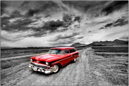1956 Chevy Nomad - Selective Color HDR