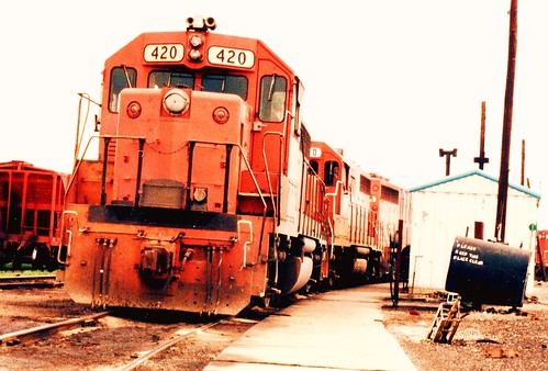Former Detroit, Toledo & Ironton Railroad EMD roadswitchers at the former GTW Elsdon Yard site. Chicago Illinois. June 1984. by Eddie from Chicago