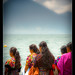Crowd watching baptism, with Volcan San pedro, Lake Atitlan (5)