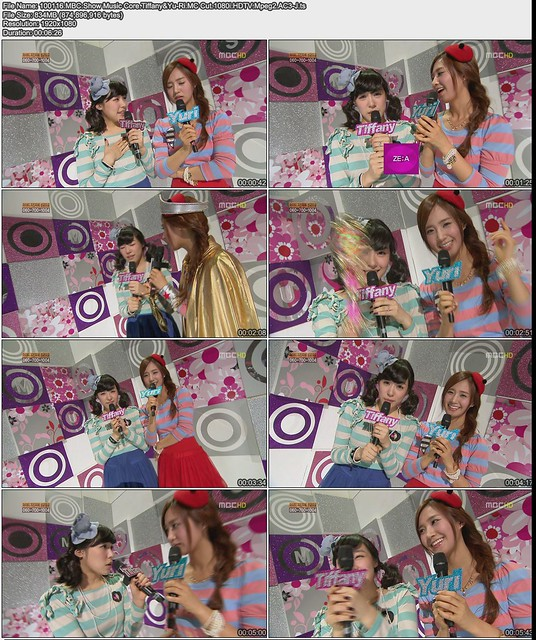 100116 MBC Show Music Core Tiffany&Yu-Ri MC Cut 1080i HDTV