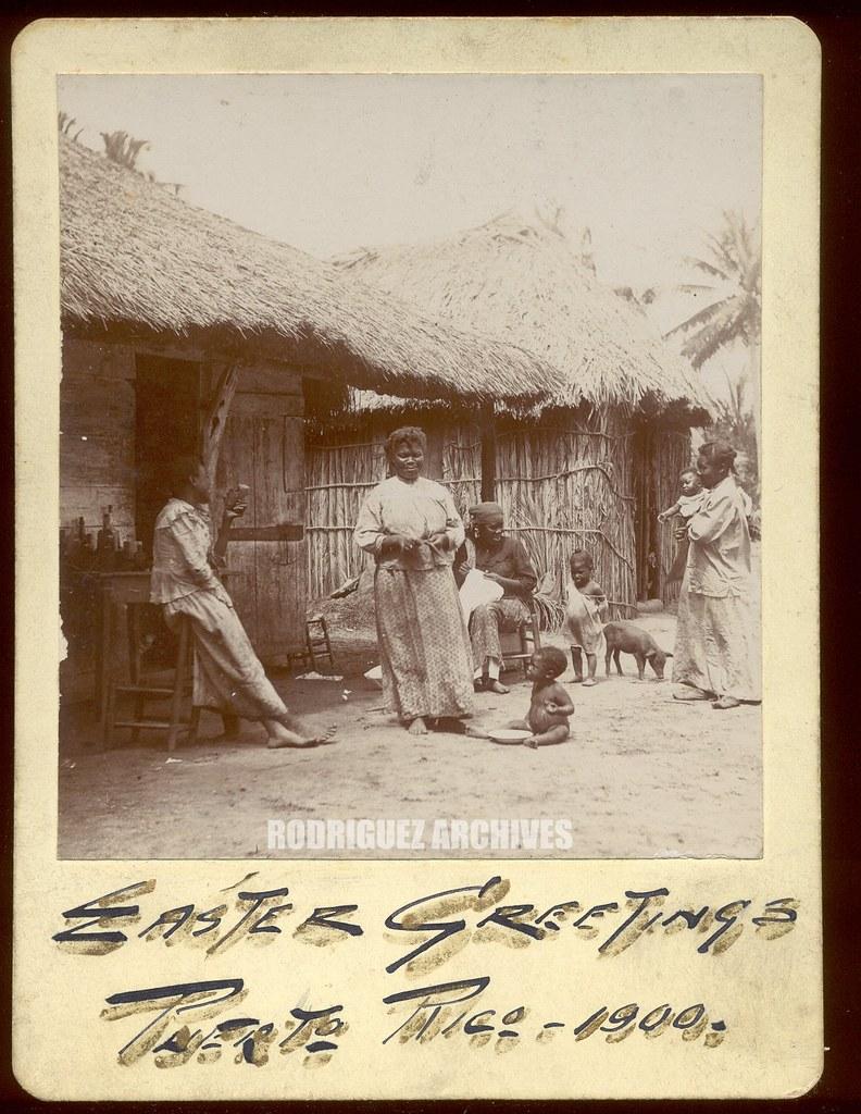 Archivo historico y fotografico de puerto ricos most interesting photograph easter greetings puerto rico 1900 native family and bohios vintage photo measures m4hsunfo