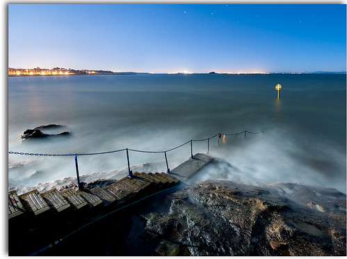 Old Pier, North Berwick by Moonlight