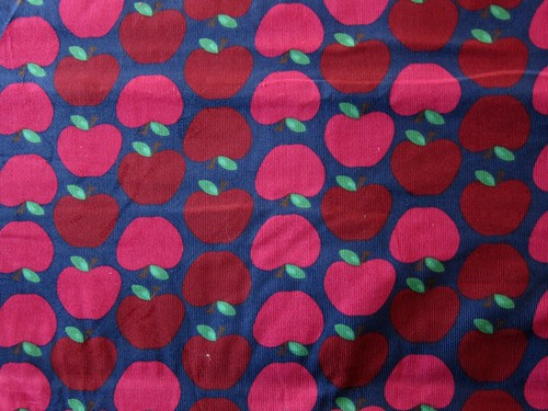 Apple print baby corduroy