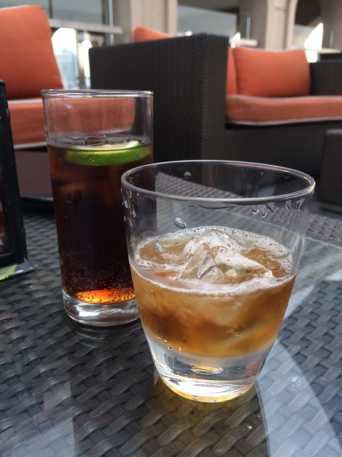 Manhattan and Long Island Iced Tea - Sky Deck View Bar