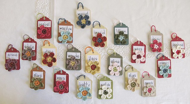 Handmade product labels by Emma Lamb