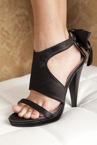 edle romance high heels pumps schleife schwarz neu ebay. Black Bedroom Furniture Sets. Home Design Ideas