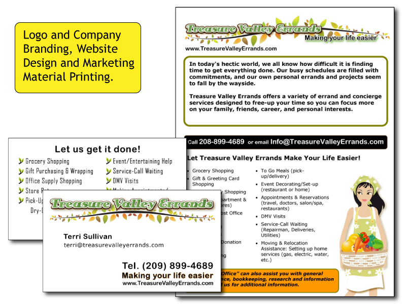 Treasure Valley Errands Business Collateral