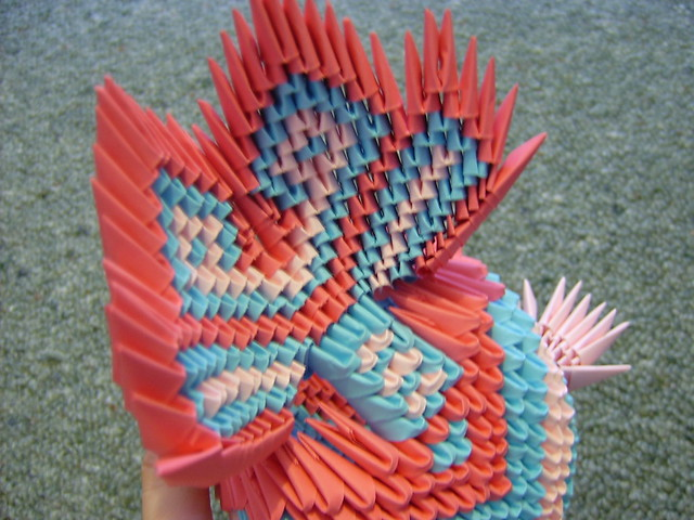 3d origami koi fish underneath tail flickr photo sharing for Origami koi fish