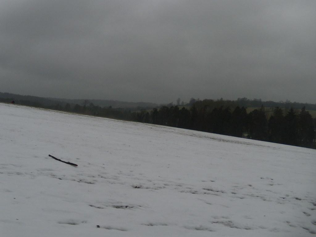 Remaining snow DSCN8568 Chorleywood to Chesham