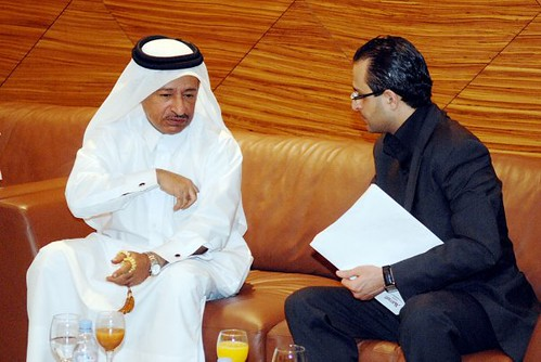 Arash Derambarsh et S.E. le Ministre d'Etat du gaz et du pétrole de l'Emirat du Qatar.