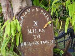 X Miles to Bridgetown