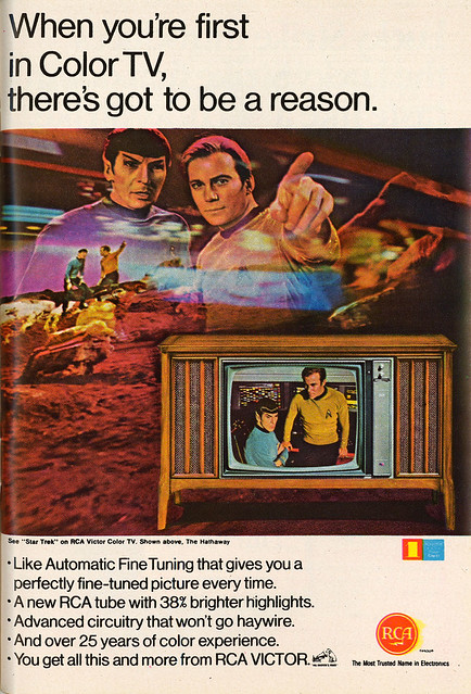 1967 RCA Star Trek Ad
