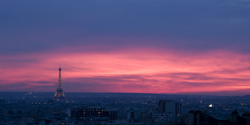 Pink and Blue over Eiffel Tower