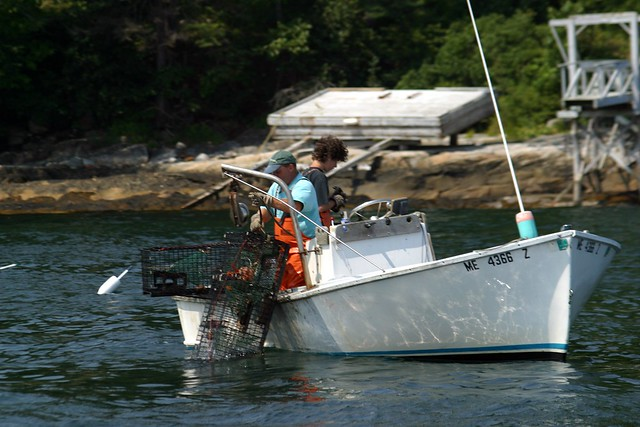 Small lobster fishing boat flickr photo sharing for Lobster fishing in maine