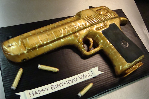 Desert Eagle cake  tiger striped  edition