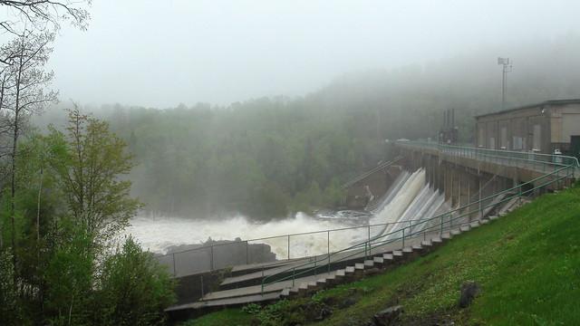 Ripogenus Dam at 9500 cfs