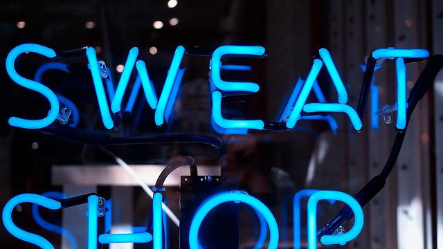 Partial sweat shop