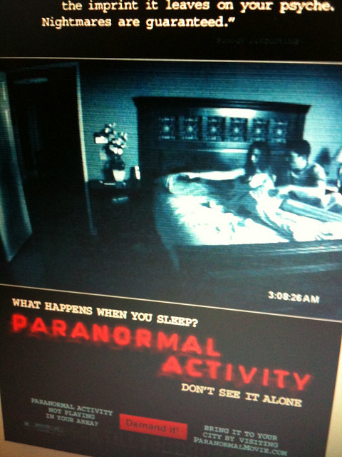 Day 288 paranormal activity flickr photo sharing for Paranormal activities in the world