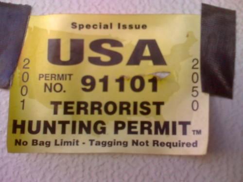 dave hunting terrorist permit shtoopid
