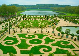 Versailles, France, 2009, - superb views over the magnificent grounds of the Versailles gardens and chateau gardens - a garden lovers dream come true! The size is sheer magnifique! ( Summer 2009 ).