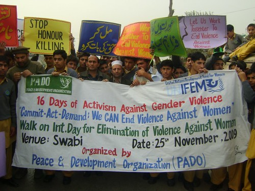 Walk on Int. Day for Elimination of Violence Against Women by PADO