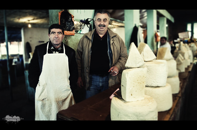 Cheese sellers at Tbilisi Market