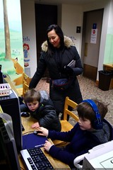 nick demonstrating funbrain games in the public libr…