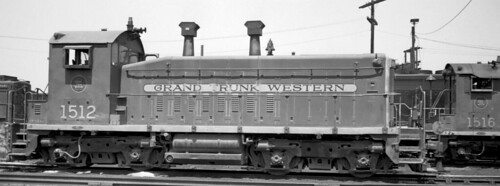 Grand Trunk Western Railroad EMD SW 1200 # 1512 at the GTW Elsdon Yard locomotive terminal. Chicago Illinois. 1970. by Eddie from Chicago