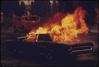Actual Demonstration by the Fire Department Training Station...01/1974 | by The U.S. National Archives