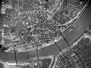 1949 aerial photo of Cincinnati (high resolution)
