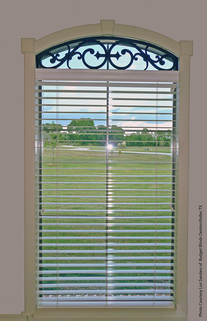 Faux Wrought Iron Eyebrow Transom Window Treatment
