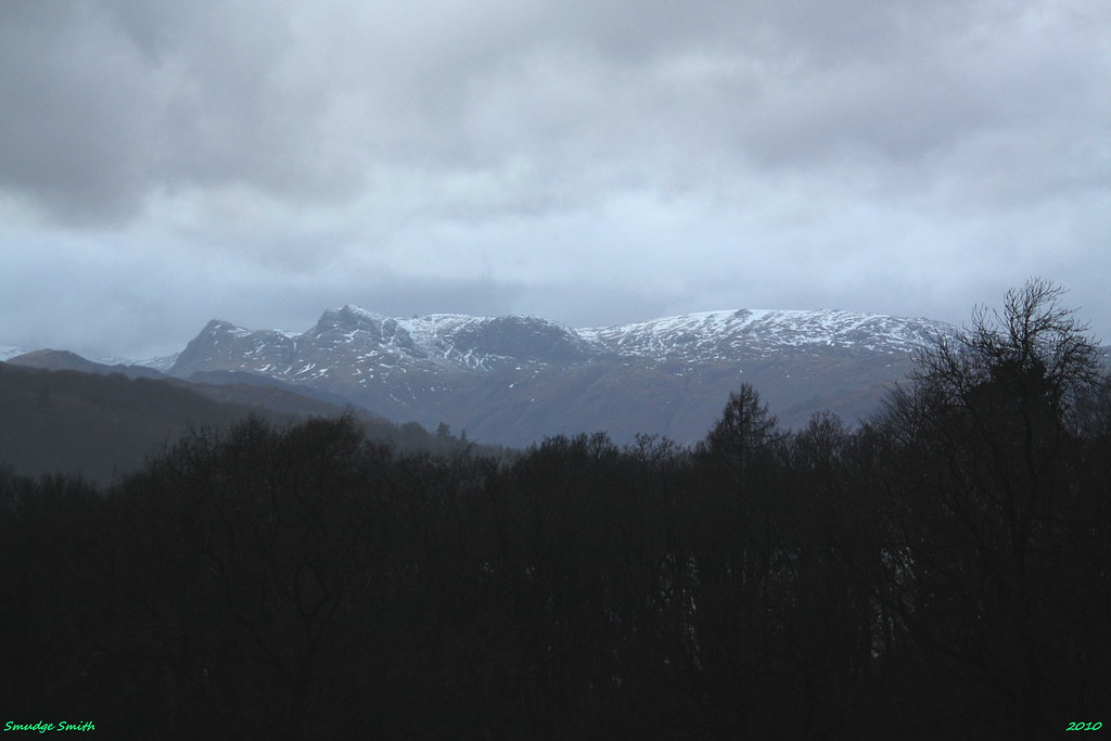 Langdale Pikes from our hotel room