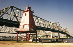 Southwest Reef Lighthouse, relocated to Berwick, Louisiana, 1990s 02