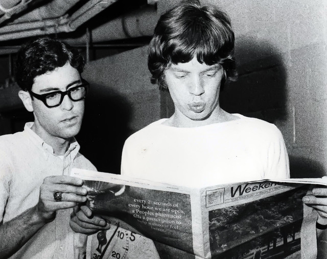 My Brother Ron and Mick Jagger...1965