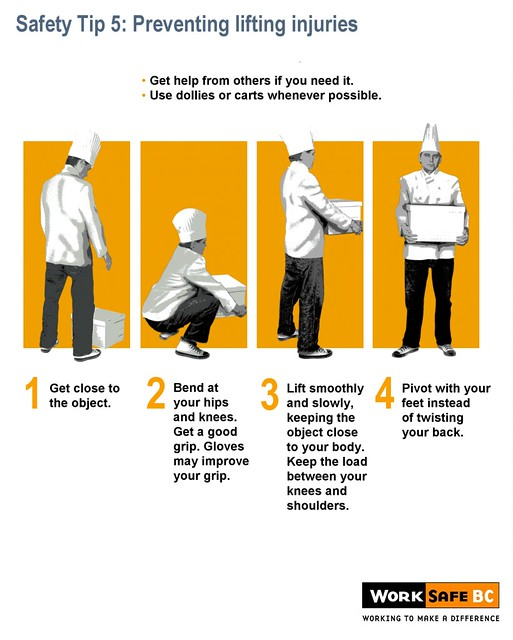 Kitchen Safety Tip 5: Preventing Lifting Injuries
