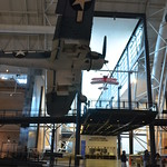 Steven F. Udvar-Hazy Center: Lockheed SR-71 Blackbird port panorama (F-4 Corsair overhead)