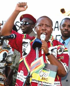 Julius Malema, the president of the African National Congress Youth League of South Africa, has been under fire for his statements to the public. A civil trial brought by a white group challenges cultural expression.  by Pan-African News Wire File Photos
