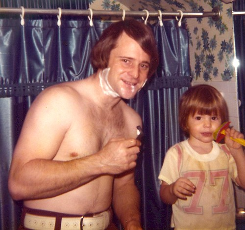 First Shave in 1974
