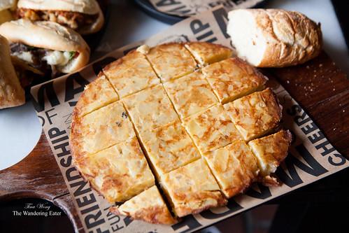 Large warm Tortilla Española