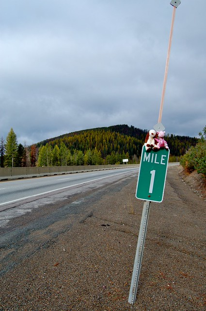 Whimsy And Nono At Mile Marker 1 In Montana  Flickr