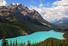 Bow Summit and Peyto Lake Bow Summit is the height of land between the Bow River