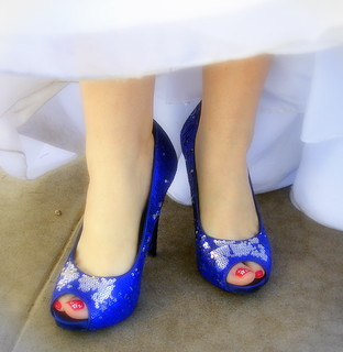 Blue (Suede) Wedding Shoes